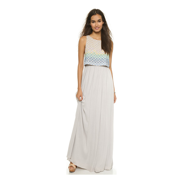 MARA HOFFMAN Linen beaded gown - This Mara Hoffman maxi dress has a boxy shell overlay with...