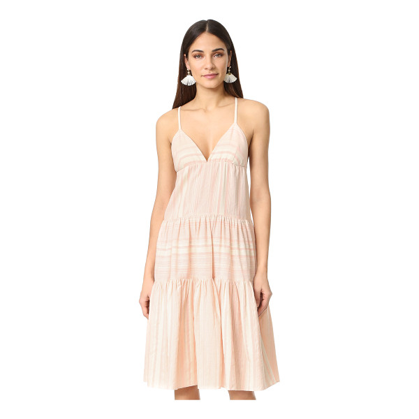MARA HOFFMAN tiered dress - Pastel stripes add soft color to this relaxed Mara Hoffman...