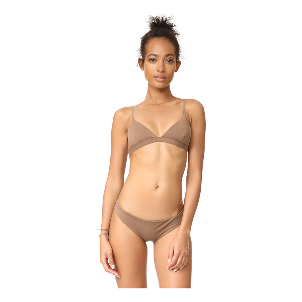 MARA HOFFMAN triangle bikini top - A Mara Hoffman bikini top with seamed triangle cups....