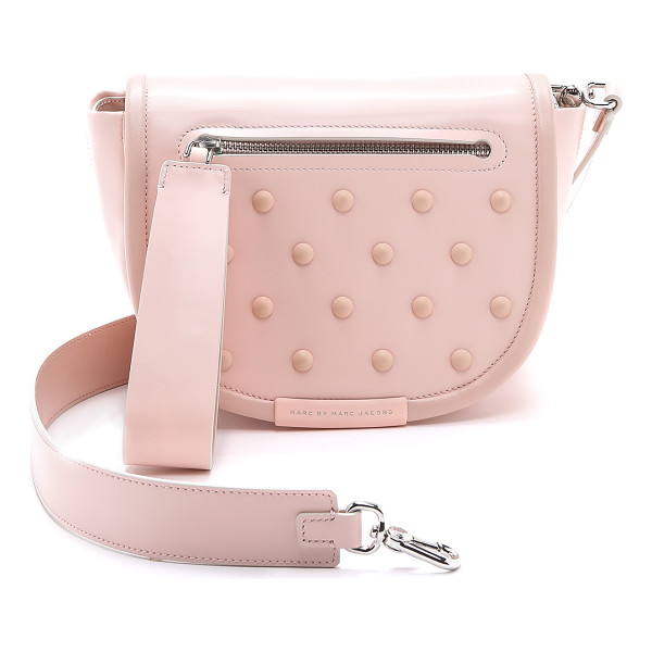 MARC BY MARC JACOBS Runway luna studs cross body bag - A smooth leather Marc by Marc Jacobs cross body bag with...