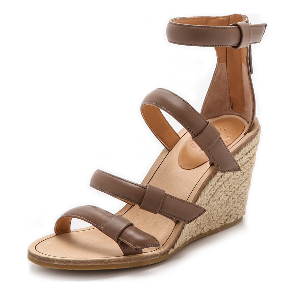 MARC BY MARC JACOBS Seditionary espadrille wedges - Inset elastic gores relax the quilted straps on leather...