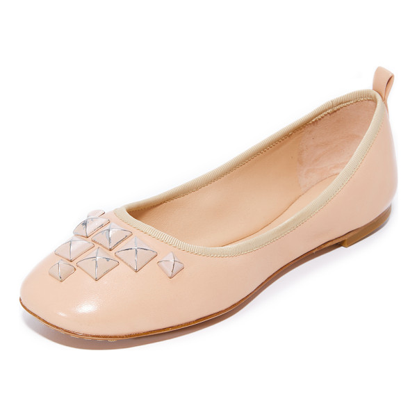 MARC JACOBS cleo studded ballerina flats - Distressed pyramid studs add an edgy feel to these smooth