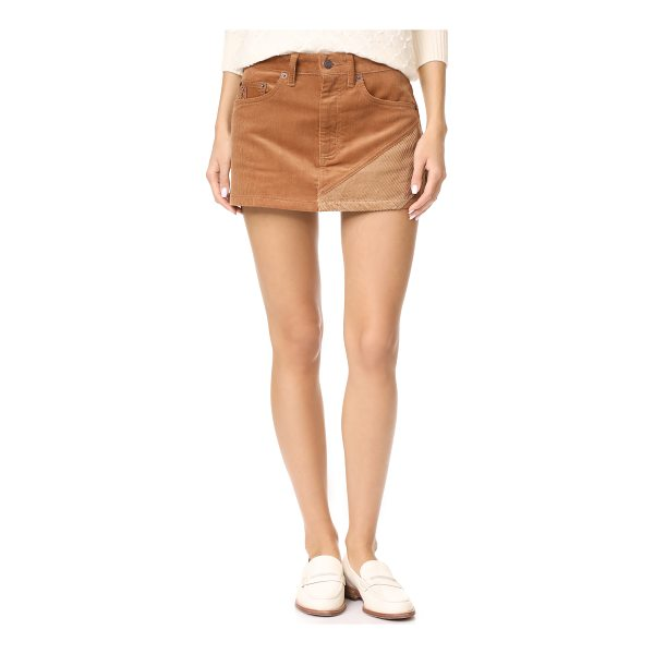 MARC JACOBS combo miniskirt - An angular contrast panel accents this Marc Jacobs...