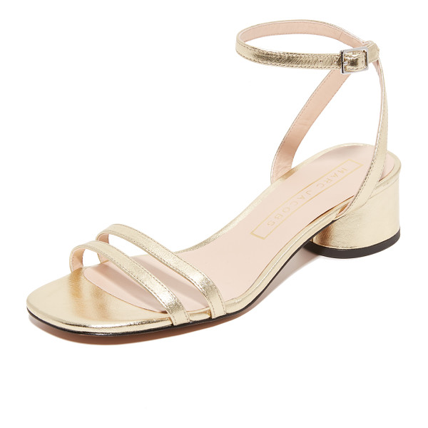 MARC JACOBS olivia city sandals - Delicate straps compose these metallic leather Marc Jacobs...