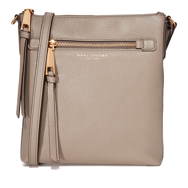 MARC JACOBS recruit north / south cross body bag - This skinny Marc Jacobs cross-body bag is cut from pebbled...
