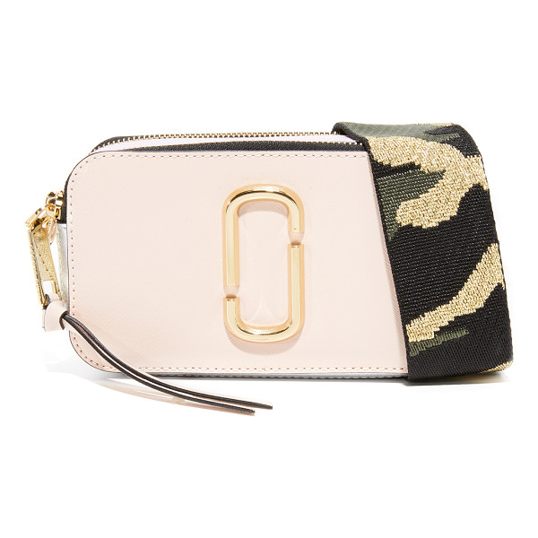 MARC JACOBS snapshot camera bag - A boxy Marc Jacobs bag in colorblocked saffiano leather....