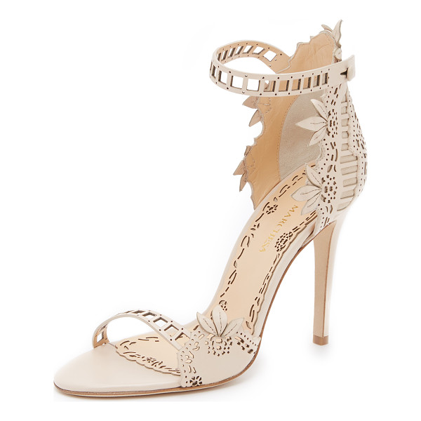 MARCHESA Margaret Sandals - Elegant Marchesa sandals in an intricate laser cut pattern....