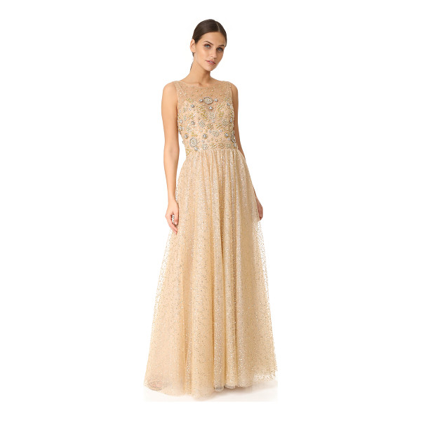 NOTTE BY MARCHESA glitter tulle ball gown - Scattered glitter dots bring bold shimmer to this airy...