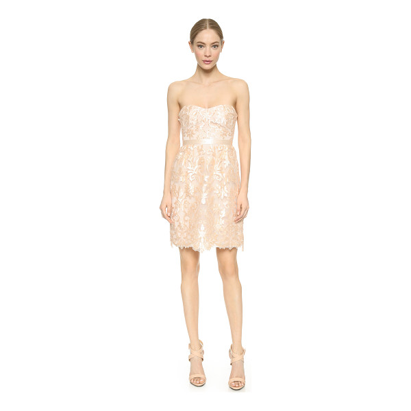 NOTTE BY MARCHESA Strapless laser cut dress - Embroidery and laser cut appliqués bring tactile dimension...