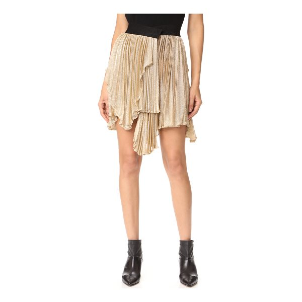 MARIA LUCIA HOHAN risha asymmetrical skirt - Shimmering golden threads compose this fine-knit Maria...