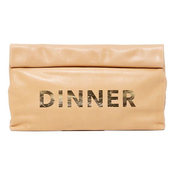 MARIE TURNOR ACCESSORIES dinner special clutch - A soft Marie Turnor Accessories clutch in wrinkled leather.