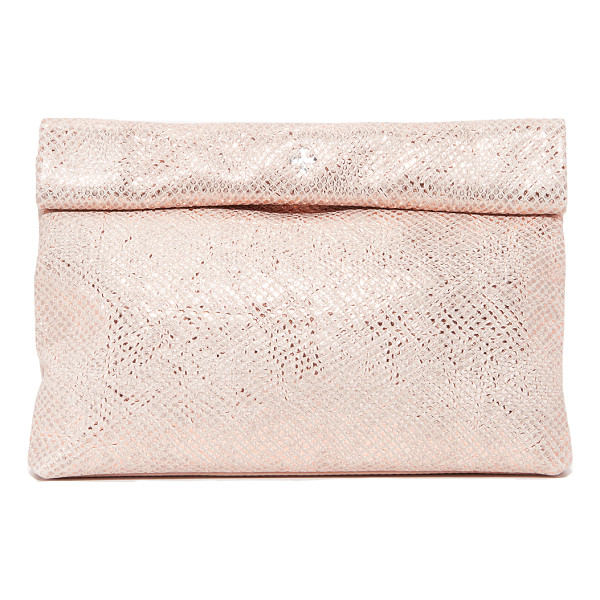 MARIE TURNOR ACCESSORIES sparkle lunch clutch - This embossed, metallic leather Marie Turnor Accessories