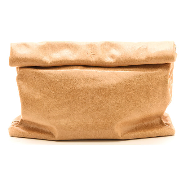 MARIE TURNOR ACCESSORIES the lunch clutch - This leather Marie Turnor Accessories clutch imitates a