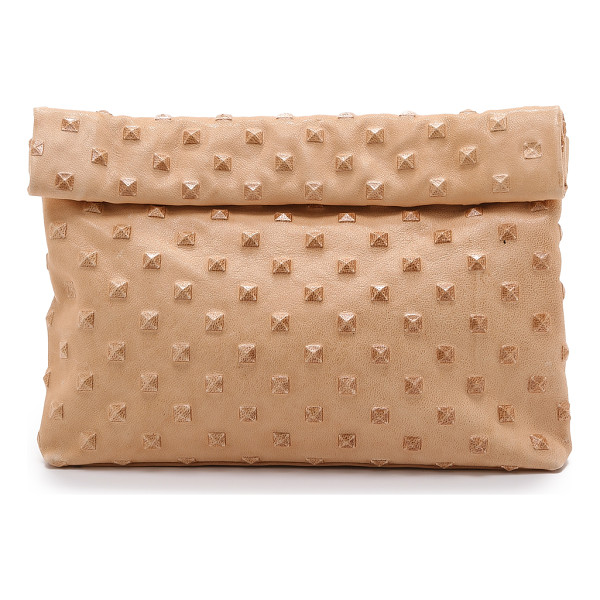 MARIE TURNOR ACCESSORIES The pyramid stud lunch clutch - This embossed leather Marie Turnor Accessories clutch