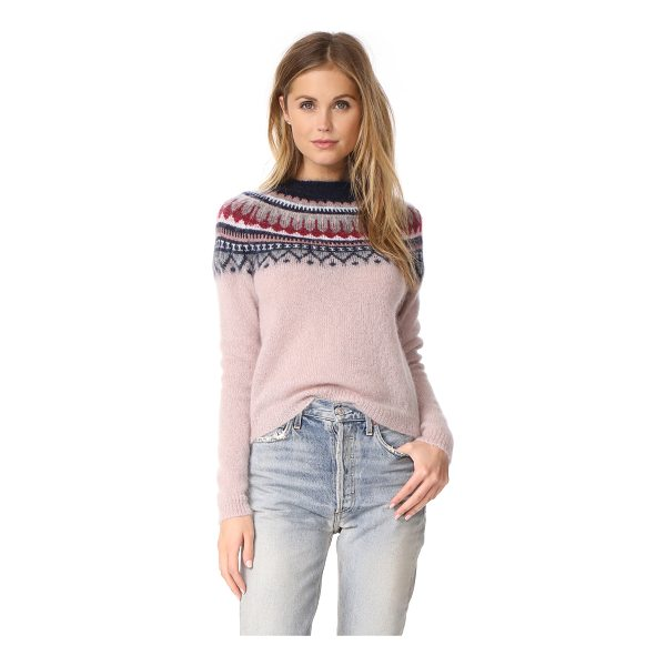 MARKUS LUPFER fair isle roisin jumper - This fuzzy Markus Lupfer fair isle sweater looks cozy and...