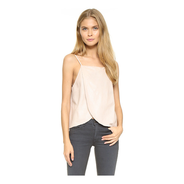 MASON BY MICHELLE MASON Wrap cami - Perforated scales bring subtle texture and pattern to this...