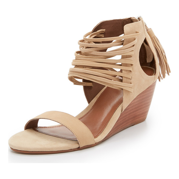 MATIKO Bryn strappy wedge sandals - Delicate straps weave through the front of these cutout,...