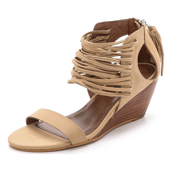 MATIKO Bryn strappy wedges - Skinny strands accent the upper of these soft leather