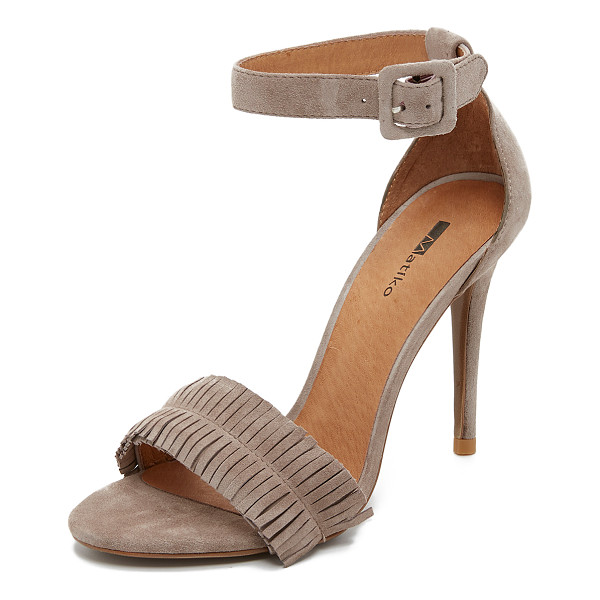 MATIKO Charlize fringe sandals - Fringe accents the vamp on these smooth suede Matiko