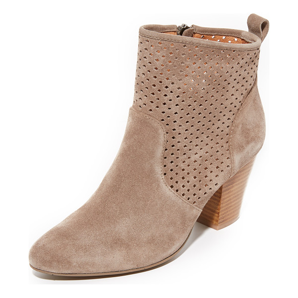 MATIKO marlin booties - Perforated geometric detailing accents the shaft of these...