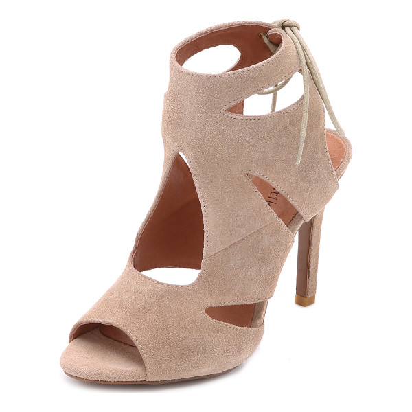 MATIKO Octavia suede cutout sandals - Geometric cutouts bring unique detail to these suede Matiko...
