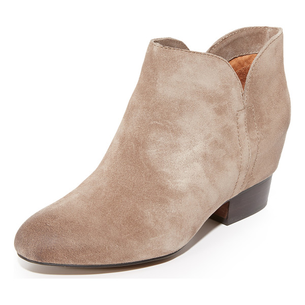 MATIKO tabine booties - A hidden wedge gives a subtle lift to these distressed...