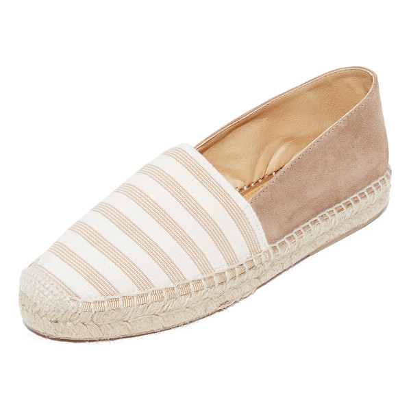 MATT BERNSON lucia elastic stripe espadrilles - A striped elastic vamp complements the easy, pull-on style...