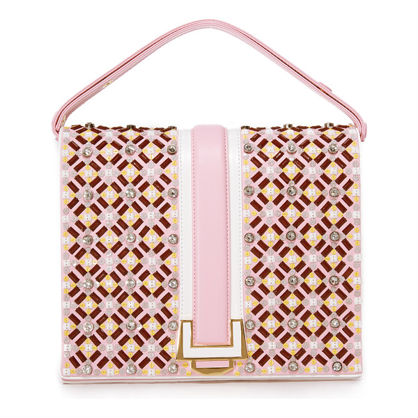 MAYRA FEDANE blair bag - Sequins and Swarovski crystals cover this boxy Mayra Fedane