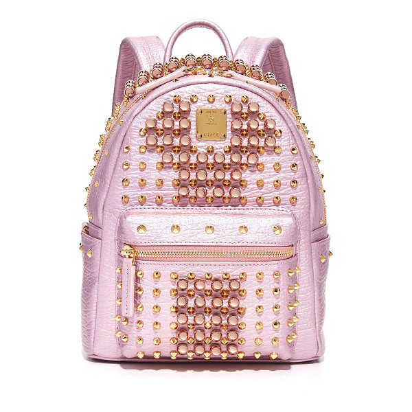 MCM stark pearl stud backpack - A statement-making MCM backpack with mixed-metal studs. Zip