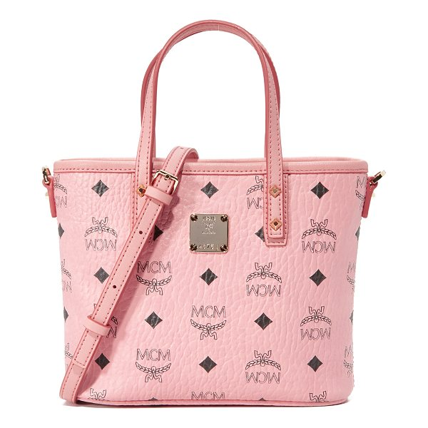 MCM mini tote - A mini MCM tote in textured, monogrammed leather. The top...