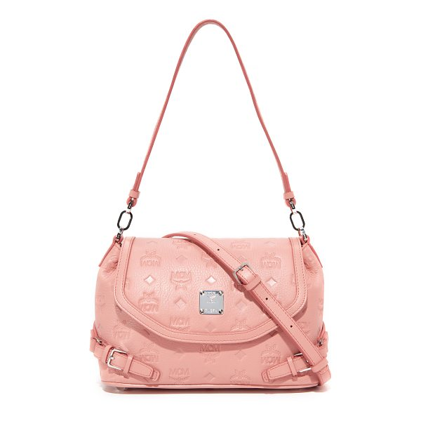 MCM monogram shoulder bag - A petite MCM bag detailed with embossed logos and buckle...