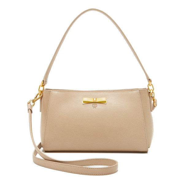 MCM Small cross body bag - A structured MCM cross body bag in textured leather,