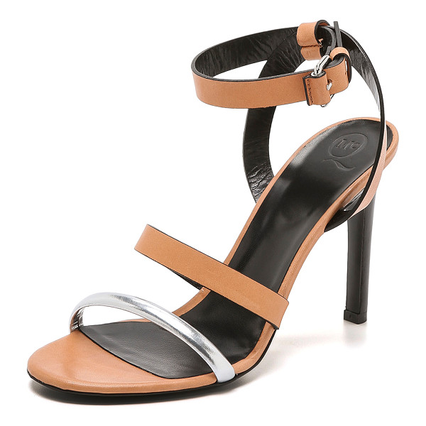 MCQ BY ALEXANDER MCQUEEN Cleo ankle strap sandals - A single metallic strap brings a hit of bold shine to these