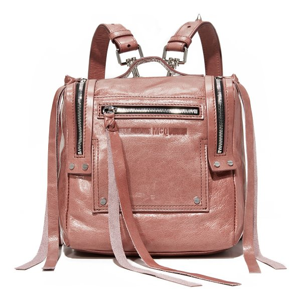 MCQ BY ALEXANDER MCQUEEN mini convertible box backpack - Exposed zips with long pulls add an edgy feel to this luxe...