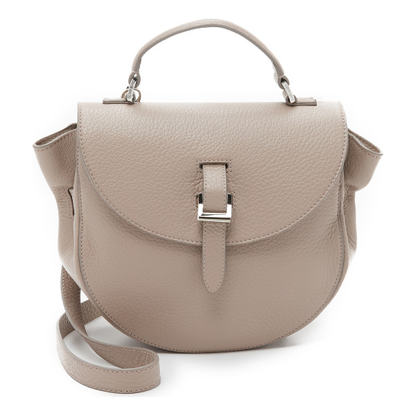 MELI MELO Ortensia saddle bag - A pebbled leather meli melo saddle bag with a magnetic