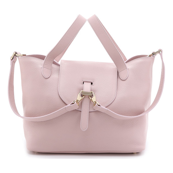 MELI MELO Meli melo - A crinkled leather meli melo handbag with a slouchy