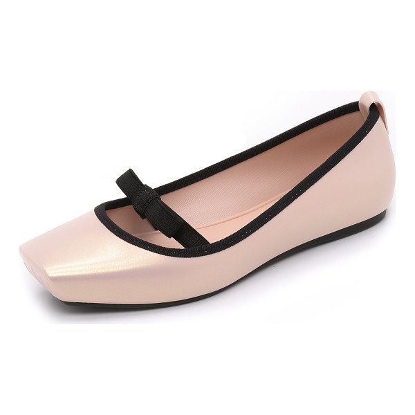 MELISSA Ballet bow flats - These pearlized PVC Melissa flats are inspired by ballerina