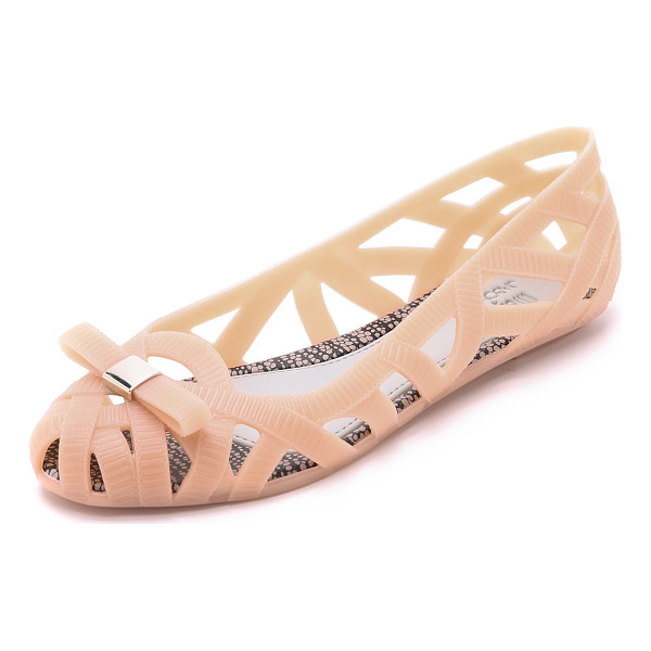 MELISSA Jean jason wu flats - A collaboration with Jason Wu. Textured ribbons of soft,