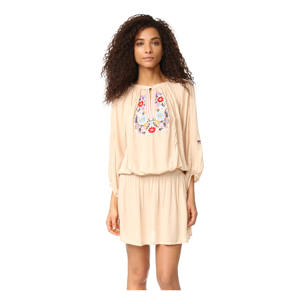 MELISSA ODABASH nadja dress - Cheery floral embroidery accents this charming Melissa...