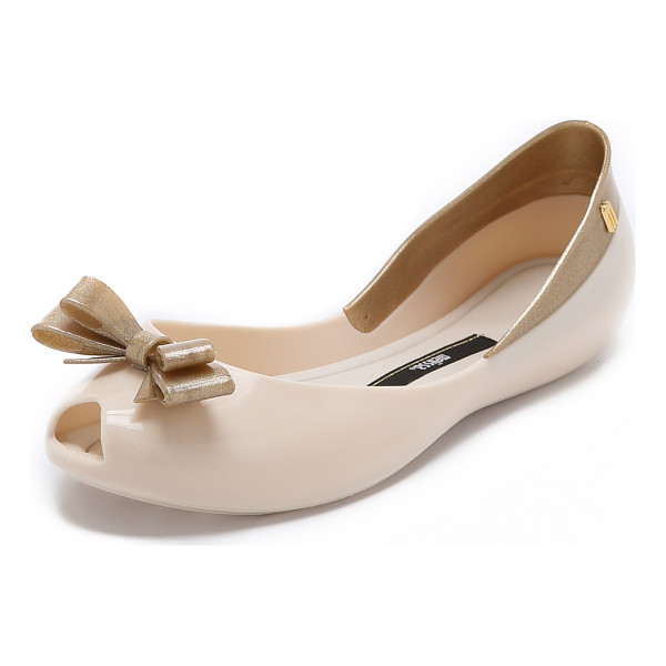 MELISSA Queen flats - A curved top line lends a barely there look to glossy PVC...