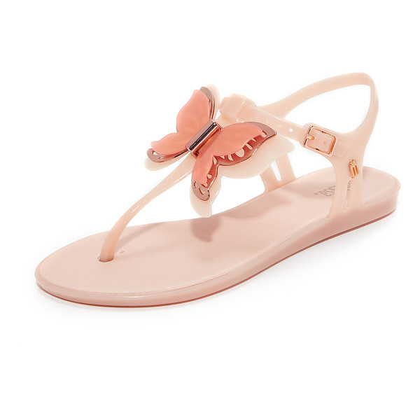 MELISSA solar fly sandals - A metallic butterfly adds summery style to these rubber...
