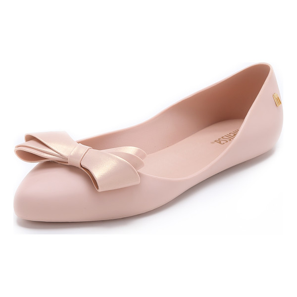 MELISSA Trippy iv bow flats - A curved top line lends a barely there look to matte PVC