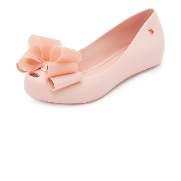 MELISSA Ultragirl sweet x flats - A metallic accented bow and a petite cutout detail the vamp...