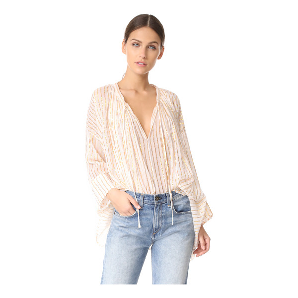 MES DEMOISELLES gloria tie front tunic - This swingy Mes Demoiselles top is detailed with metallic...