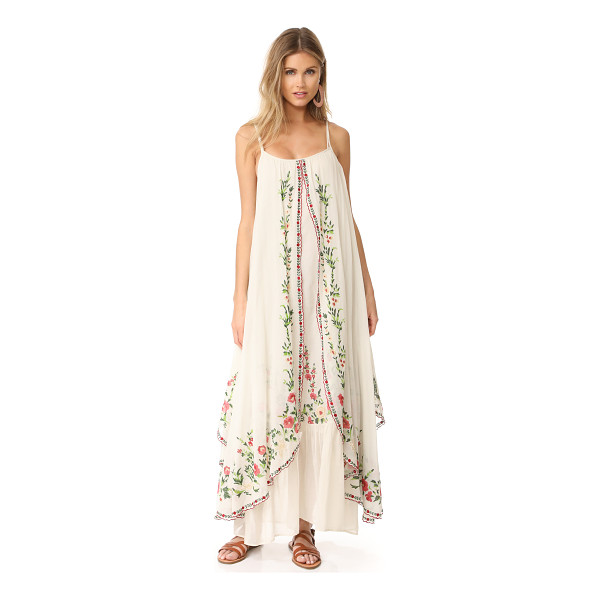 MES DEMOISELLES josephine flora embroidered dress - NOTE: Runs true to size. Please see Size & Fit tab. Overlay...