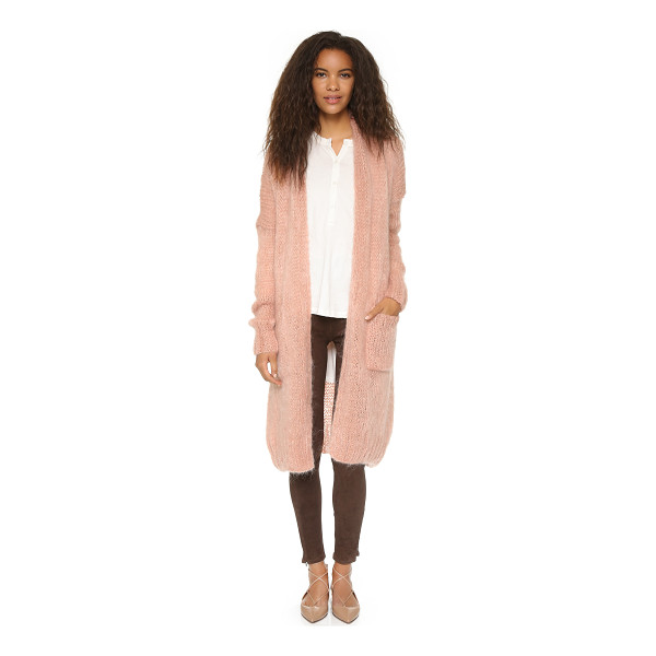 MES DEMOISELLES Loretta cardigan - Metallic strands bring subtle shimmer to this roomy Mes...