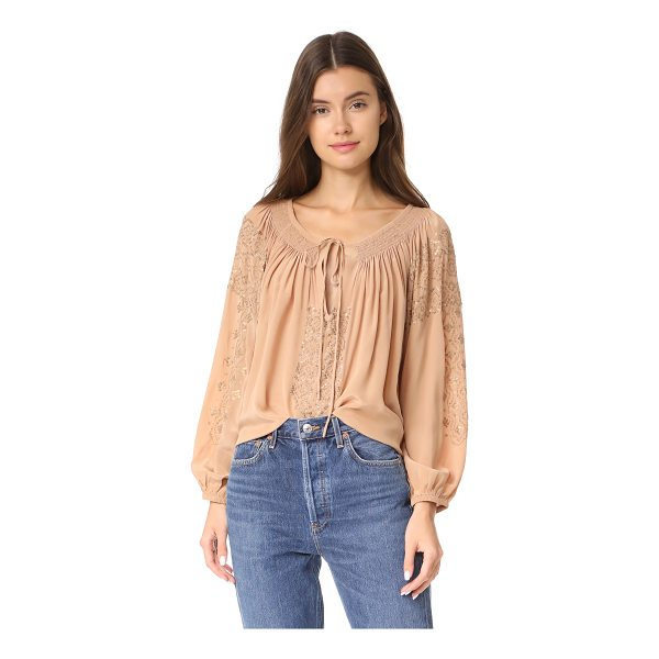 MES DEMOISELLES tara top - This swingy, washed silk Mes Demoiselles blouse is weighted...