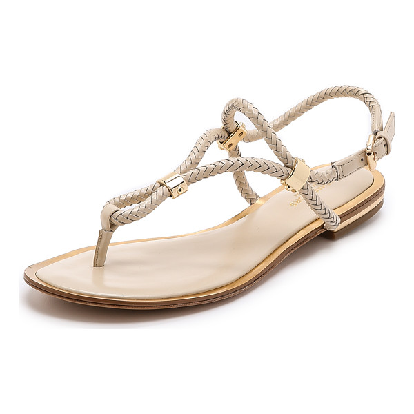 MICHAEL KORS COLLECTION Hartley flat sandals - Braided leather straps compose these tubular Michael Kors...