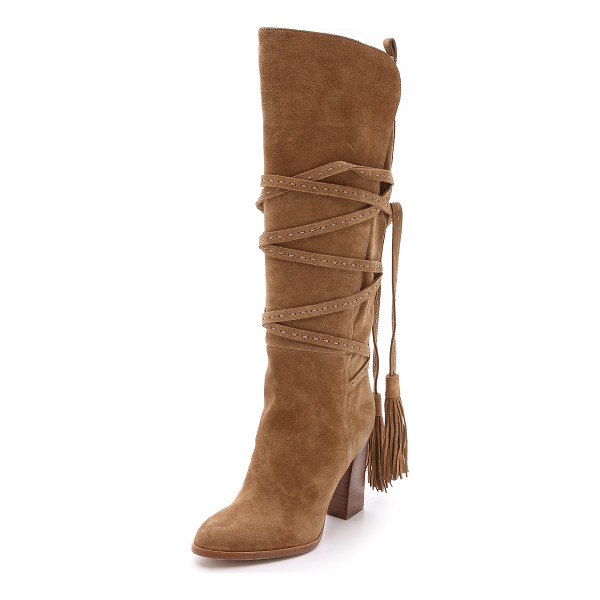 MICHAEL KORS COLLECTION Jessa suede wrap boots - These '70s inspired Michael Kors Collection boots are made...
