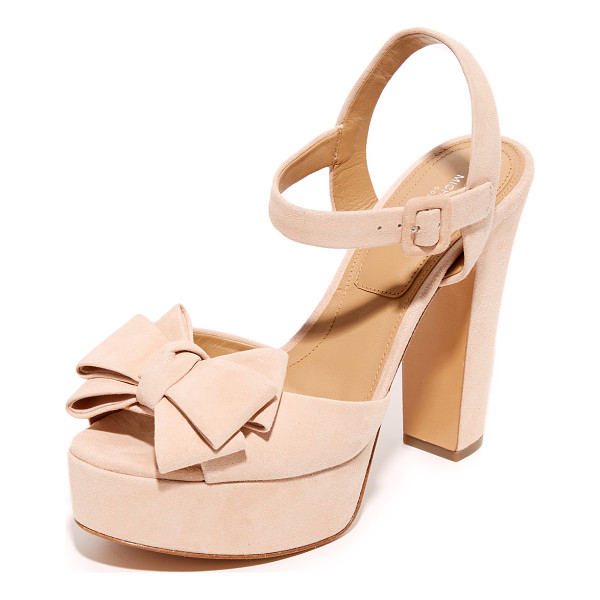 MICHAEL KORS COLLECTION Lexington platform sandals - A bow at the vamp lends a feminine feel to these suede,...